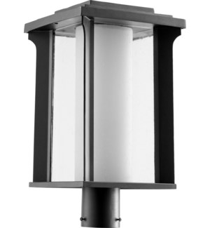 Garrett Black Transitional Outdoor Post Light