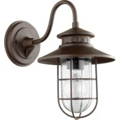 Moriarty 1 Light Industrial Oiled Bronze Outdoor Wall Light