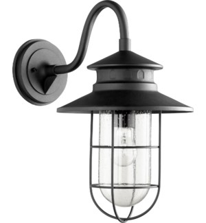 Moriarty 1 Light Industrial Black Outdoor Wall Light