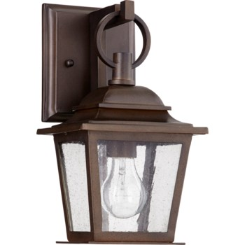 Pavilion Oiled Bronze Transitional Outdoor Wall Light