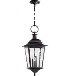 Pavilion Black Transitional Outdoor Pendant