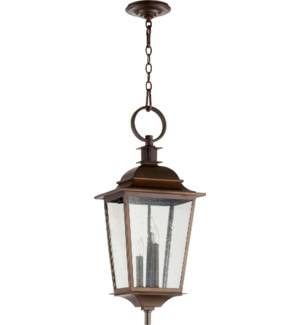 Pavilion Oiled Bronze Transitional Outdoor Pendant