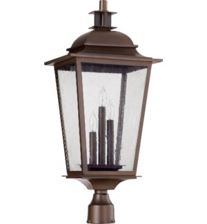 Pavilion Oiled Bronze Transitional Outdoor Post Light