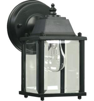 1 Light  Black Outdoor Wall Light