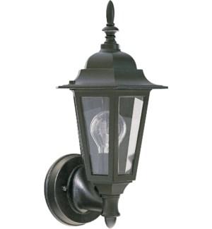 1 Light Traditional Black Outdoor Wall Light