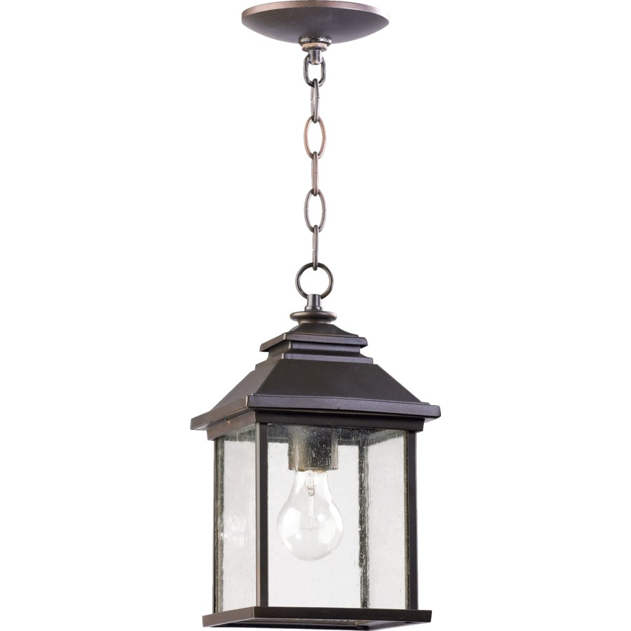 Pearson Oiled Bronze Traditional Outdoor Pendant