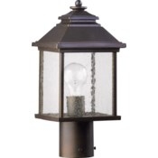 Pearson Oiled Bronze Traditional Outdoor Post Light