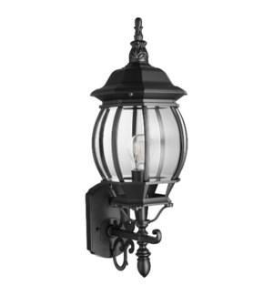 1 Light Black Wall Lantern