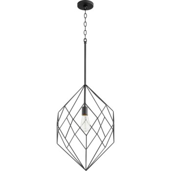 Black Modern and Contemporary Pendant