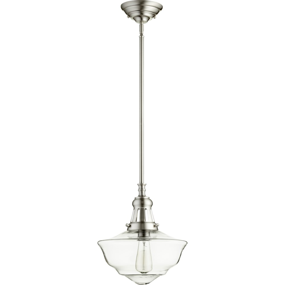 """"""" Satin Nickel with Clear Glass Transitional"""