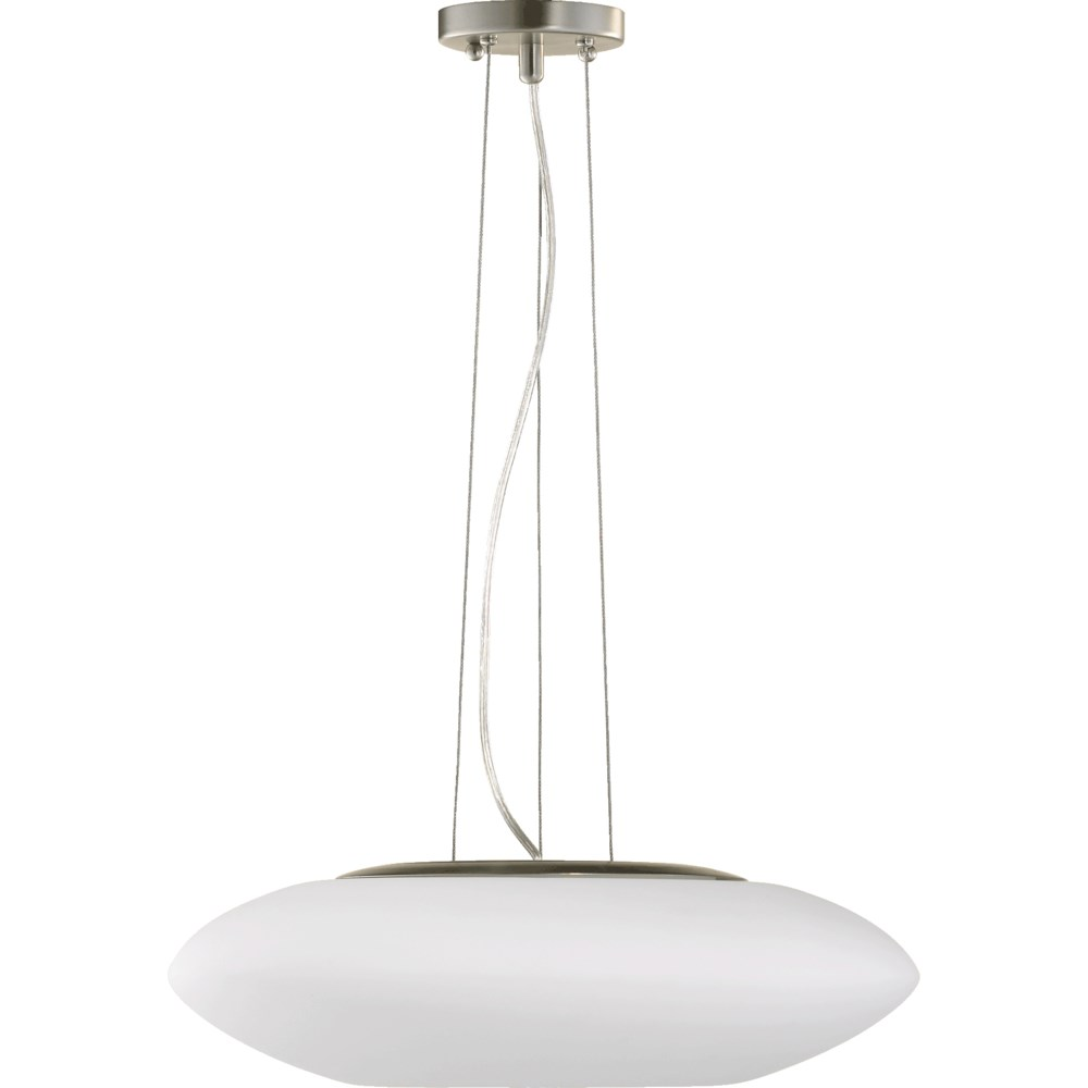 Cloud Satin Nickel  Modern and Contemporary Pendant