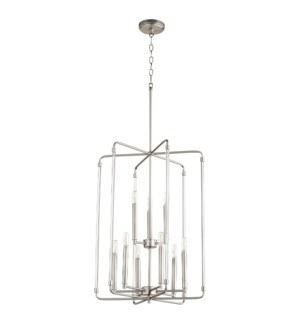 Optic 9 Light Satin Nickel Pendant