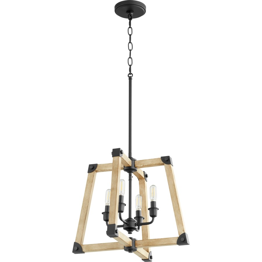Alpine Black with Driftwood finish Modern Farmhouse Pendant