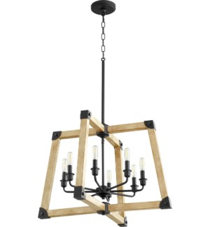 Alpine Black with Driftwood finish Modern Farmhouse Pendant