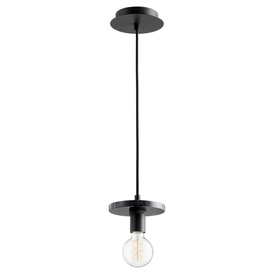 Back with Black Marble Contemporary Mini Pendant