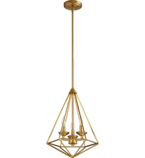 Bennett Aged Brass Transitional Pendant