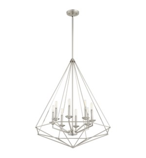 Bennett Satin Nickel Transitional Pendant