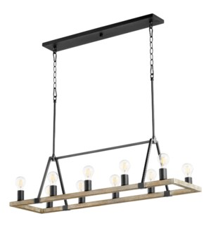 Paxton 10 Light  Black Transitional Chandelier