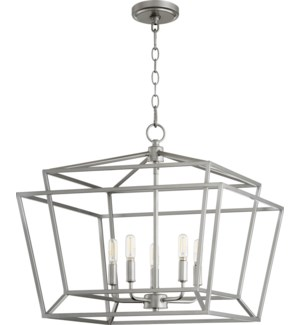 Monument 5 Light Transitional Classic Nickel Chandelier