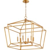 Monument 6 Light Transitional Gold Leaf Chandelier