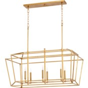 Monument Gold Leaf Transitional Linear Pendant