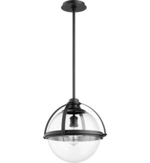 Black Transitional Globe Pendant