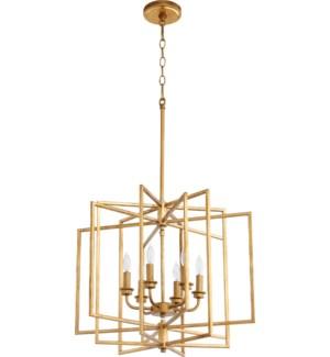 Hammond Gold Leaf Cage Pendant