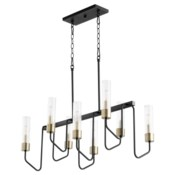 Helix 8 Light Black Transitional Chandelier