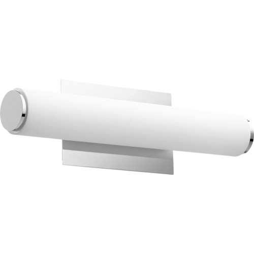 LED 1 Light  Array Modern and Contemporary Polished Nickel Matte White Acrylic Vanity