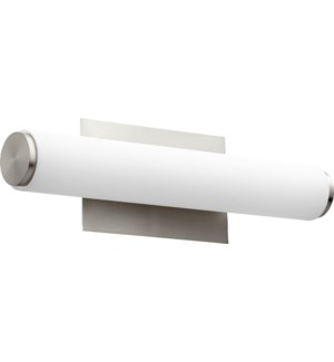 LED 1 Light  Array Modern and Contemporary Satin Nickel Matte White Acrylic Vanity