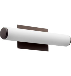 LED 1 Light  Modern and Contemporary Oiled Bronze Matte White Acrylic Vanity