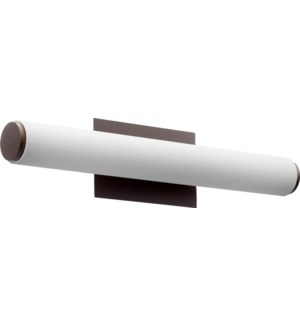LED 2 Light Array Modern and Contemporary Oiled Bronze Matte White Acrylic Vanity