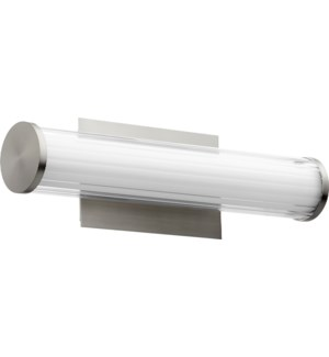 LED 1 Light Array Modern and Contemporary Satin Nickel Vanity