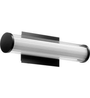 LED 1 Light Array Modern and Contemporary Black Vanity