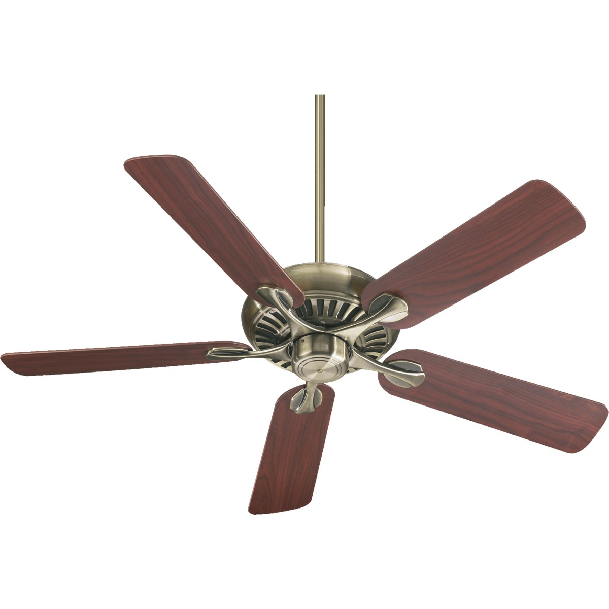 Pinnacle 52-in 5 Blade Antique Brass  Transitional Ceiling Fan
