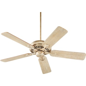 Pinnacle 52-in 5 Blade Aged Silver Leaf Transitional Ceiling Fan