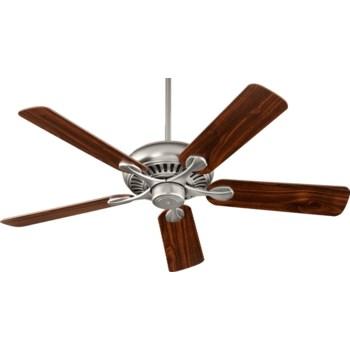 Pinnacle 52-in 5 Blade Satin Nickel Traditional Ceiling Fan