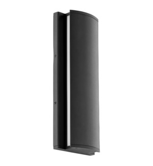 """ARTEMIS 16"""" Black Wall Mounted Sconce"""