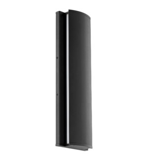 """ARTEMIS 20"""" Black Wall Mounted Sconce"""