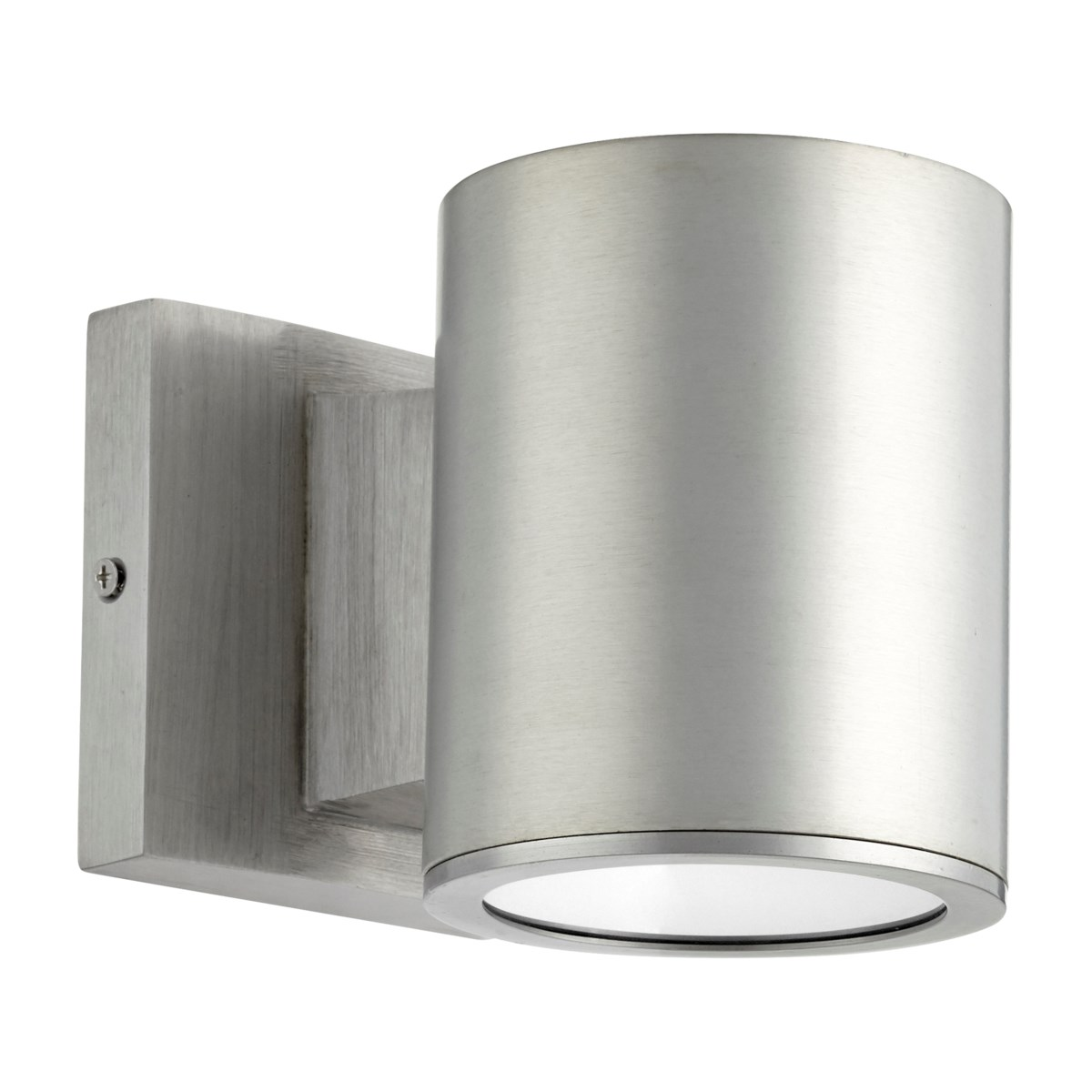 Cylinder Brushed Aluminum Contemporary Outdoor Wall Light