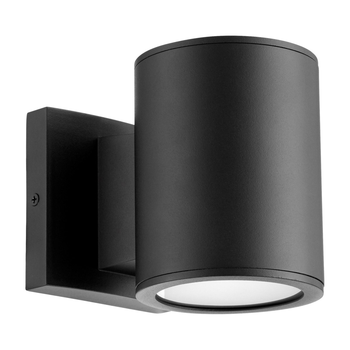 Cylinder Black Contemporary Outdoor Wall Light