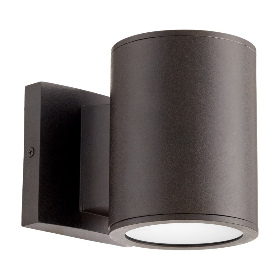 Cylinder Oiled Bronze Contemporary Outdoor Wall Light