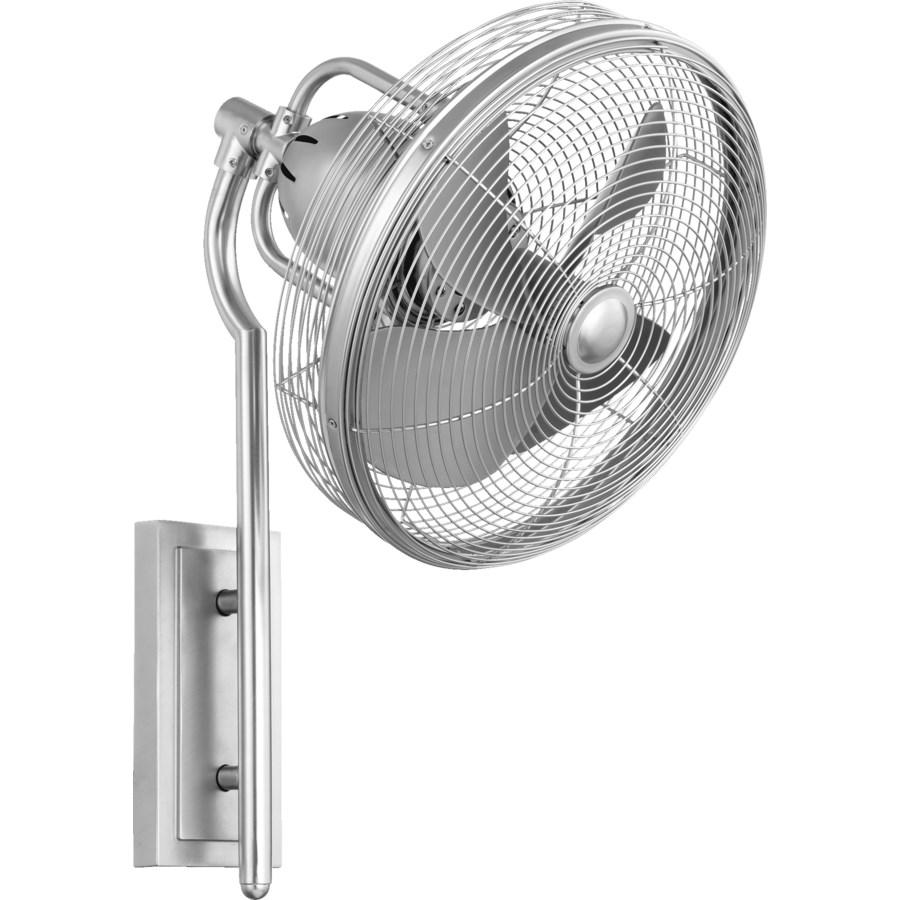 Veranda 13-in Satin Nickel Indoor/Outdoor Wall Fan (4-Blade)