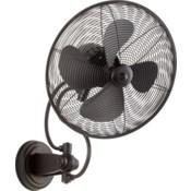 Piazza 14-in Black Indoor/Outdoor Wall Fan (4-Blade)