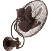 Piazza 14-in Oiled Bronze Indoor/Outdoor Wall Fan (4-Blade)