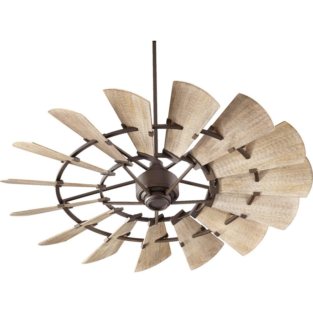 Windmill 60-in 15 Blade Oiled Bronze Modern Farmhouse Ceiling Fan