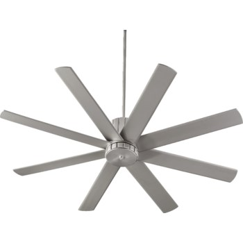 """Proxima 60"""" Eight-Blade Satin Nickel Transitional Ceiling Fan"""