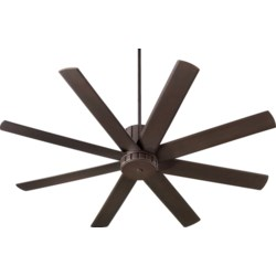 """Proxima 60"""" Eight-Blade Oiled Bronze Transitional Ceiling Fan"""