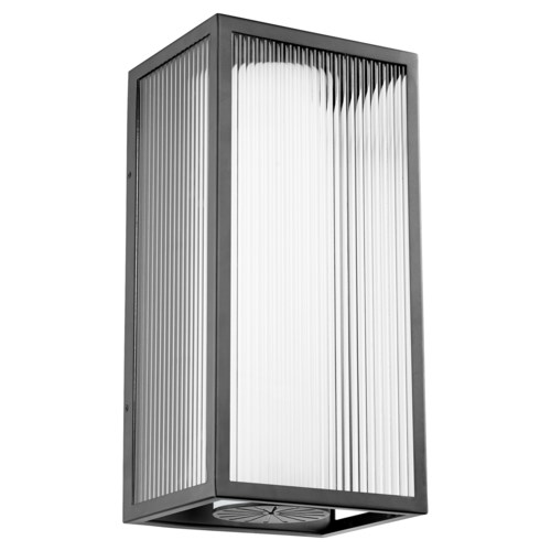 Maestro Black Soft Contemporary LED Outdoor Wall Light