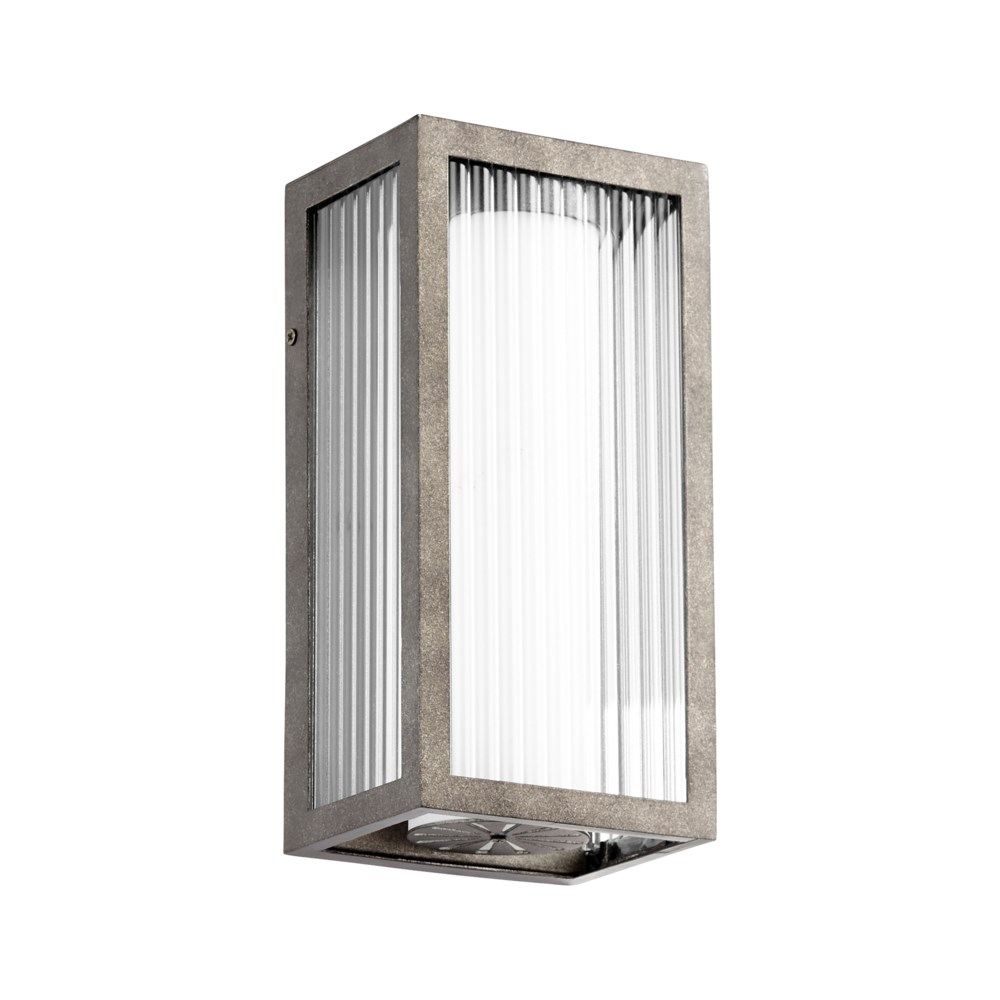 Maestro Weathered Zinc  Soft Contemporary LED Outdoor Wall Light